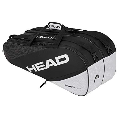 Head Elite 9R Supercombi Bolsa de Tenis, Adultos Unisex, Negro Blanco
