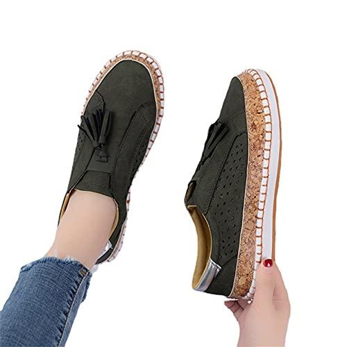 Liart Mocasines para Mujer Zapatos Cómodos para Caminar con Plataforma de Ancho Ancho Zapatillas Arch Support Vulcanizadas Zapatos