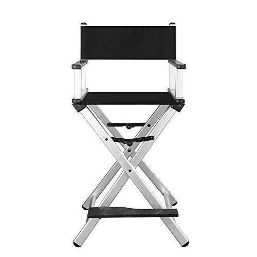 YQDSY Silla plegable resistente para pies, silla telescópica de director de maquillaje telescópica, silla plegable de madera plegable para exteriores hko/Chrome