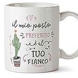 MUGFFINS Tazza San Valentino (Ti amo) - il mio posto preferito è al tuo fianco - Idee Regali Anniversario Originali per Lui/per Lei/Ragazzi/Fidanziati