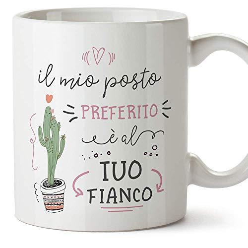 MUGFFINS Tazza San Valentino (Ti amo) - il mio posto preferito è al tuo fianco - Idee Regali...
