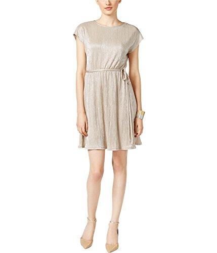 Notations Women's Petite Size Short Sleeve Scoop Neck Borde, Beige Alluring, PM