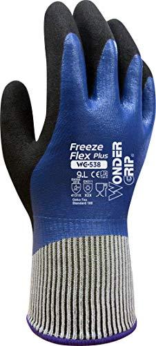 Wonder Grip WG-538 Freeze Flex Plus - Ölbeständiger Arbeitshandschuh mit Frostschutz und dreifacher Nitrilbeschichtung; Anti-Rutsch Schutzhandschuhe für sicheres Greifen; L / 09