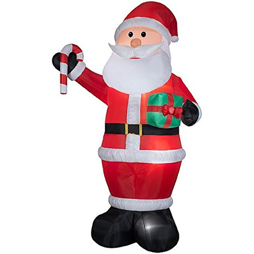 CHRISTMAS INFLATABLE GIANT 12' TALL SANTA W/ GIFTS BY GEMMY