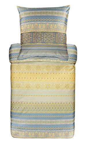 Bassetti Mako-Satin Bettwäsche Italia in Algeri G1 1 Bettbezug 135 x 200 cm + 1 Kissenbezug 80 x 80 cm, 9311718, grau