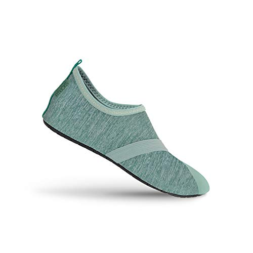 FitKicks Live Well Women#039s Foldable Active Lifestyle Minimalist Footwear Barefoot Yoga Water Everyday Shoes Mint