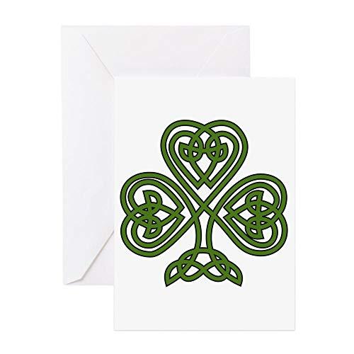 CafePress Celtic Shamrock St Patricks Day Greeting Cards Greeting Card, Note Card, Birthday Card, Blank Inside Matte