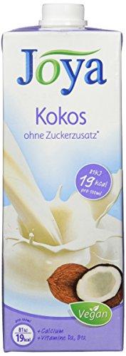 Joya Milchalternativen Kokos Drink - Kokosmilch, ohne Zuckerzusatz, Laktosefrei, Vegan, Sojafrei - Die geschmackvolle Alternative zu Milch - 10er Pack (10x1l)