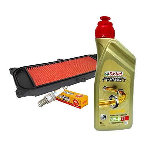 Tecneco Kit Castrol 10 W40 Filtre à air bougie pour kymco people 250 – 300/S