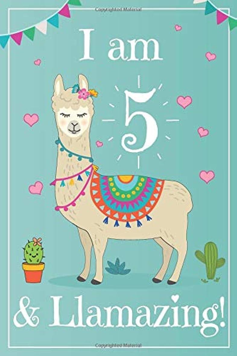 比率起きろ起きろI am 5 llama Journal: An I am 5 and  llamazing Draw Write journal (lined and blank pages) with MORE LLAMAS inside this Llama Notebook Birthday Journal! Makes great llama gifts for girls  at a llama 5th birthday / llama birthday!