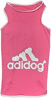 犬 服 タンクトップ 【ピンク・XL】 アディドッグ メッシュ 春夏 小型犬 ドッグウェア adidog ピンク,XL