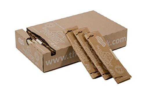 PooPick - Hundekotbeutel biologisch abbaubar (< 25kg) - Nachhaltig und plastikfrei aus festem Recyclingpapier, 25x Kontaktlose Kotaufnahme (bis 25 kg)