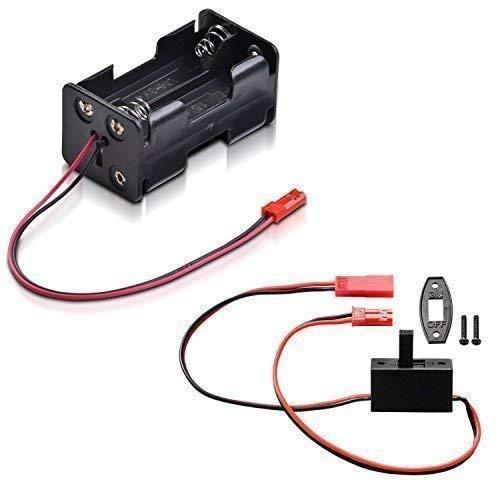 Batteriebox 4 x Mignon Typ AA mit BEC Stecker und Schalterkabel BEC JST partCore