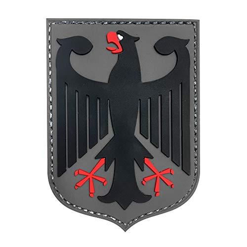 Morton Home KSK Federal Republic of Germany Black Eagle Germany Bundeswehr Coat of arms Insert Bundestag 3D Rubber Patch (Black)