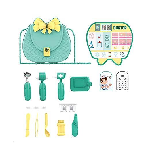Buhui Juego de la casa de juguete para niños de simulación de la mochila de combinación de vajilla de cocina de maquillaje conjunto de kit médico de película tema de regalo de