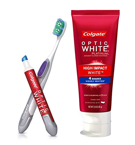 Colgate Optic White Toothpaste And Whitening Pen 2 In 1 Teeth