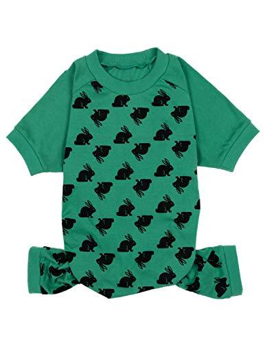 Leveret Hunde-Pyjama mit passendem Weihnachtsmotiv, 100 % Baumwolle, Größe XS bis XXL, Large, Hase