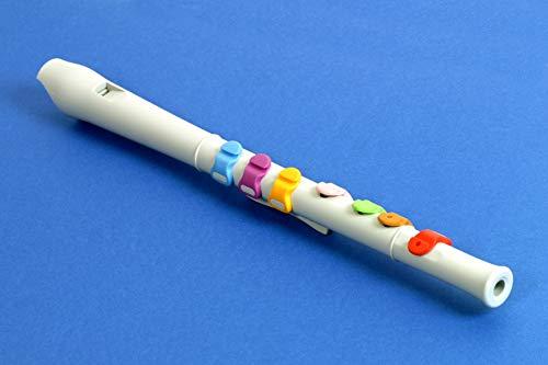 Flauto Facile FF1, flauto dolce semplificato per l'apprendimento della musica; tastiera semplificata e colorata per una diteggiatura facilitata, adatto a bambini dai 3 anni in su