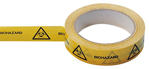 Neolab 2 7010 Biohazard tape 25 mm x 66 m roll Yellow