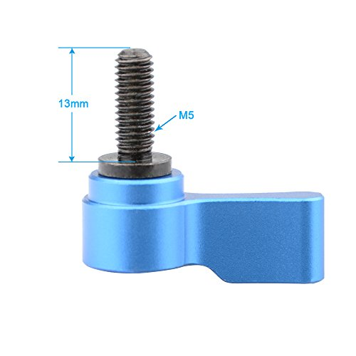 CAMVATE M5 Male Threading Thumbscrew(Blue,13mm Long, 2 Pieces)