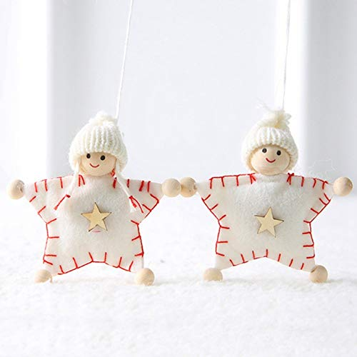 xinxiang prijzenswaardig 2 Stks/Set Kerstmis Pluche Breien Hanger Pop Kerstmis Boom Hanging Ornament Home Party Decoratie
