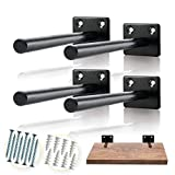 BATODA - 6' Solid Steel Floating Shelf Bracket (4 pcs) - Blind Shelf Supports - Hidden Brackets for Floating...