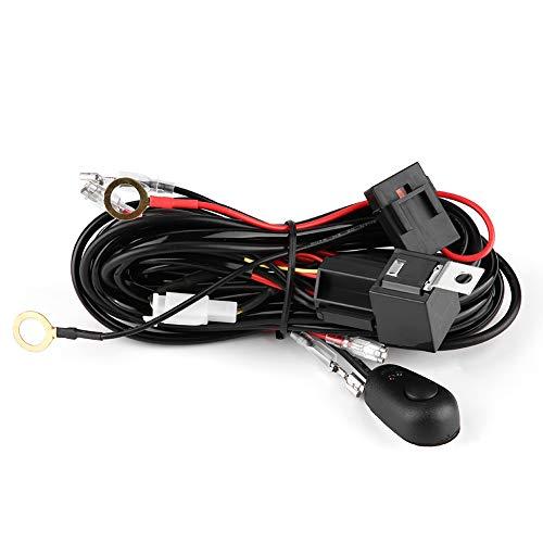 aqxreight Arnés de cableado de luz LED, lámpara de coche 12 / 24V 180W 40A Arnés de cableado de luz LED Interruptor Relé 18AWG Arnés de cable
