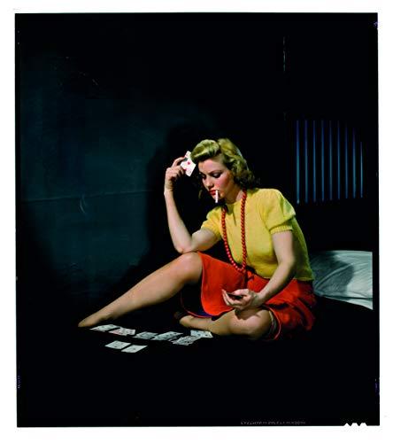 Vestin poster op fotopapier Premium 270 g - Nickolas Muray vrouw in cel die solitair spelen A1