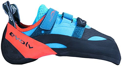 Evolv Shaman Climbing Shoe - Blue/Orange 6.5