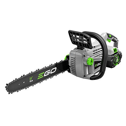 EGO Power+ CS1604 16-Inch 56-Volt Lithium-ion Cordless Chainsaw - 5.0Ah Battery and Charger Included