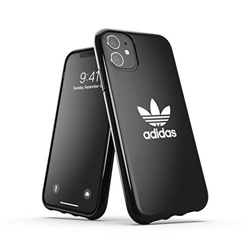 adidas Custodia progettata per iPhone 11, cover testate a caduta, bordi rialzati antiurto originale, colore nero