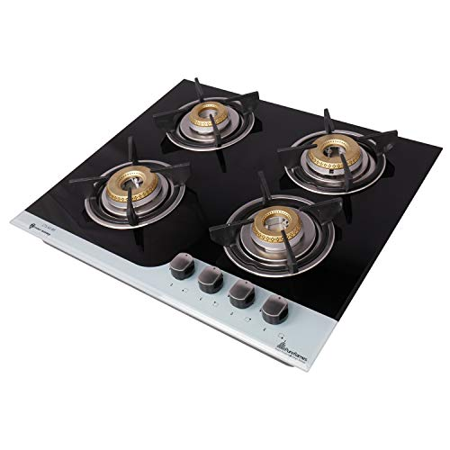 Pureflames HOB Black Glass Automatic (4 Burner, LTS 60BR 4B)