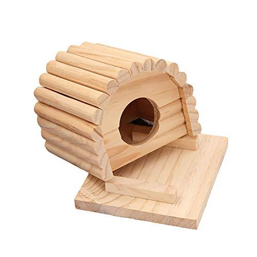 YUnnuopromi pour Animal Domestique Maison, Circulaire en Bois en Forme d'arc Mouse Hamster Cage Nid Maison Lit Mordre Jouet pour Chiot Fournitures
