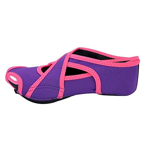 Tbest Zapatillas Calcetines de Yoga Antideslizantes, Calcetines de Pilates de Yoga con Dedos de Pies Zapatillas de Entrenamiento de Baile con Empuñaduras para Pilates Ballet Hombres Mujeres