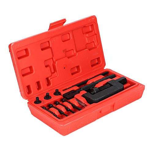 Triturador de Cadena de Motocicleta,Chrome Vanadio Acoplador de Cadena de Acero Splitter Link Remachador Remachado Conjunto de Herramientas de Reparación Triturador Cadena