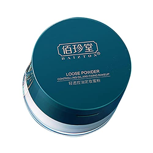 Poudre de finition libre professionnelle, finition légère de contrôle de l'huile Poudre de finition éclaircissante Poudre pour le visage, maquillage naturel translucide Poudre de finition de peau