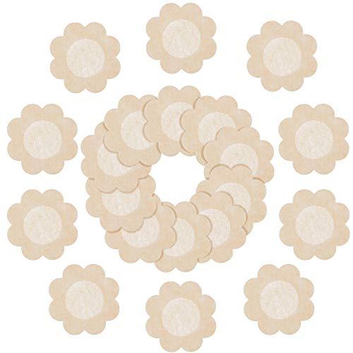SATINIOR Nippel Abdeckungen 30 Paar Nippelbrust Abdeckungen Einweg Blütenblatt Nippel Pasteten für Damen Mädchen Party