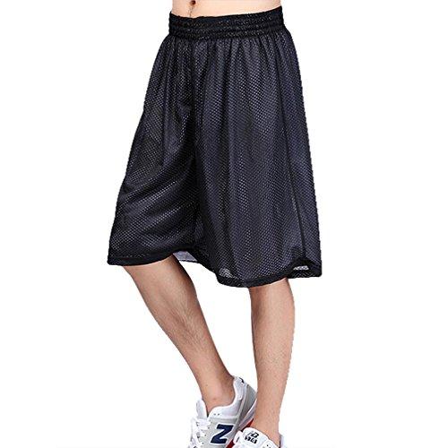 Hoerev Herren Reversible Sport Basketball Shorts, Keine Taschen