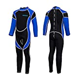IREENUO Kids Wetsuit for Boys Girls, 2.5mm Neoprene Long Sleeve Child Full Wet Suit for Diving Swimming Surfing Snorkeling Wading