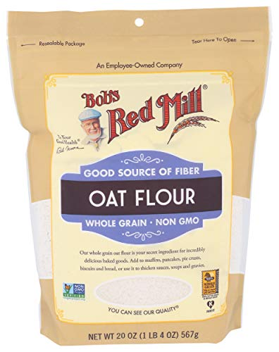 Bob's Red Mill Whole Grain Oat Flour, 1.25 Pound, 20 Ounce (Pack of 1)