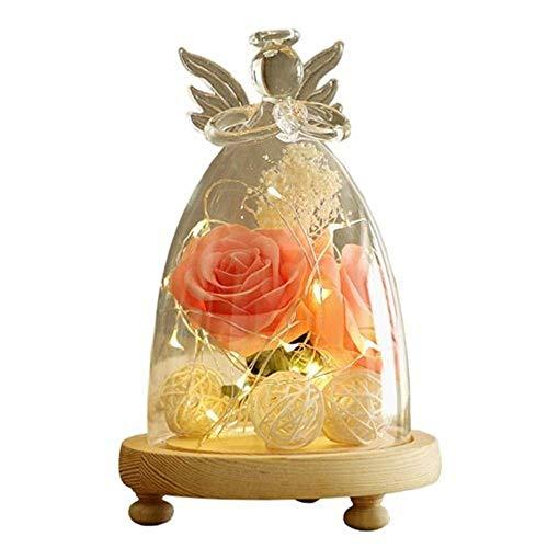 MOZUSA Creativa LED de luz de la Noche, Europeo Adornos Decorativos de Escritorio de Cristal de la lámpara pequeña Mesa artesanales Muebles