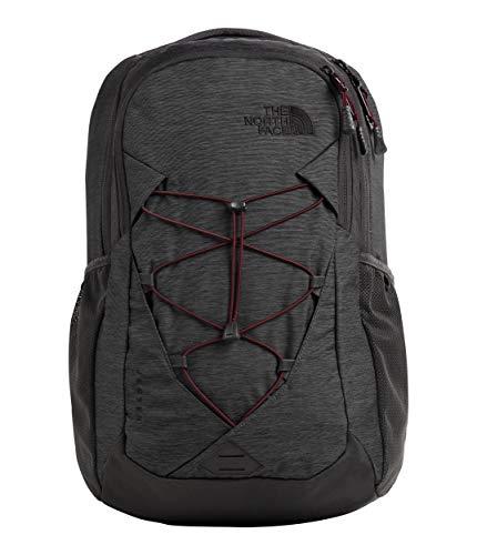 The North Face Women's Jester Backpack, Asphalt Grey Light Heather/Deep Garnet Red, One Size