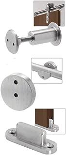 CRL LSWMADT Brushed Stainless Laguna Sliding Door Hardware Adaptor Kit for Wood Doors