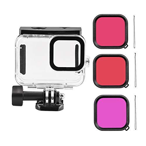 talogca Wasserdichtes Gehäuse Für GoPro Hero 9 Schwarz, 45 M Tauchschutzgehäuse + 3er Pack Tauchfilter, Action-Kamera Anti-Fog Insert Kits