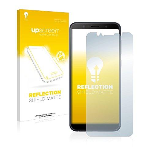upscreen Entspiegelungs-Schutzfolie kompatibel mit Asus ZenFone Max Pro (M1) – Anti-Reflex Bildschirmschutz-Folie Matt