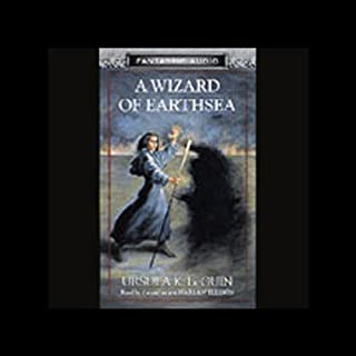 A Wizard of Earthsea audiobook cover art
