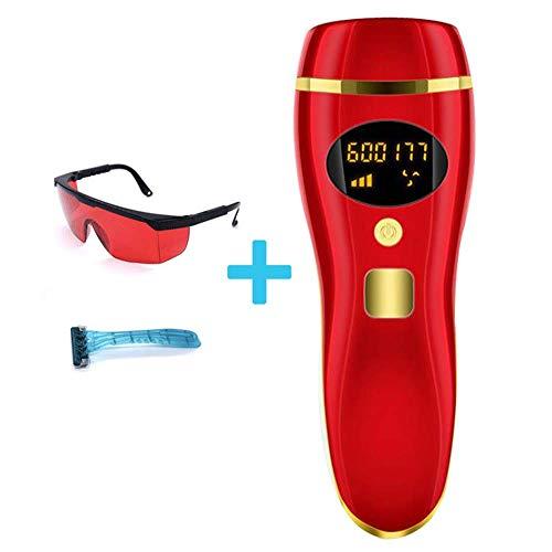 Ontharing Systems, Permanent Hair Remover voor licht naar donker huid, 600.000 lichtpulsen, voor Gezicht Bikini oksels en Borsthaar Apparaat van de Verwijdering,Red