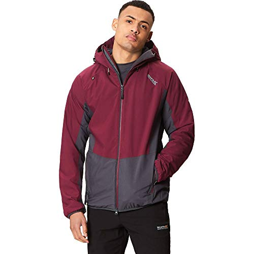 Regatta Whitlow Stretch Waterproof and Breathable Wind Resistant Insulated Veste Homme, Fig/Seal Grey, XXXL
