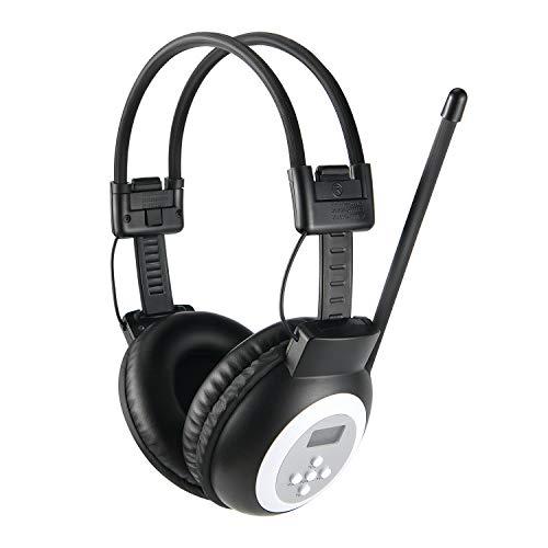 Moukey Gehörschutz Kopfhörer Radio mit Gehörschutz, MHr1FM Stereo Headset Radio LCD Funkkopfhörer, Radiosender mit automatischer Suche, Ohrenschützer für Werkstatt, Garten, Mähen, Sägen, Bauwesen