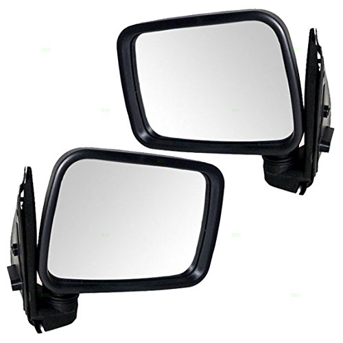 Driver and Passenger Manual Side View Mirrors Replacement for Isuzu Honda SUV Pickup Truck 8-97085-372-3 8-97085-371-3